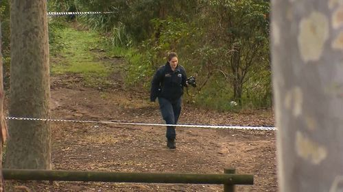 A police photographer investigates the Newcastle incident. Picture: 9NEWS
