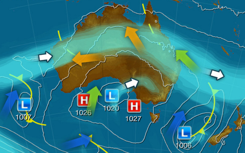 The chilly conditions are due to a slow moving high-pressure system mixing with dry air over the country's eastern interior.