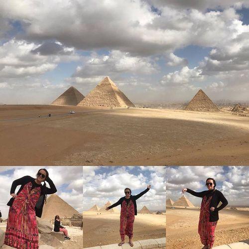 """Being a tourist at the Pyramids"" - Vanessa Condran. (Facebook)"