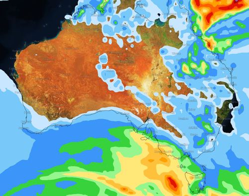 A cool change spurred on by rain will hit south-east Australia by Saturday. (Weatherzone)