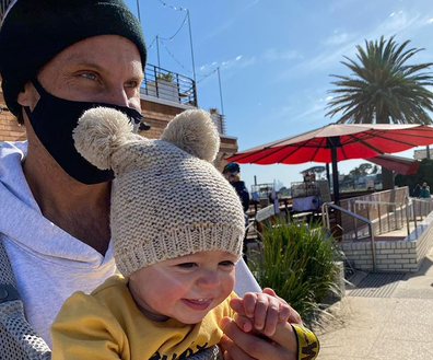 Sam Wood with daughter Charlie out and about