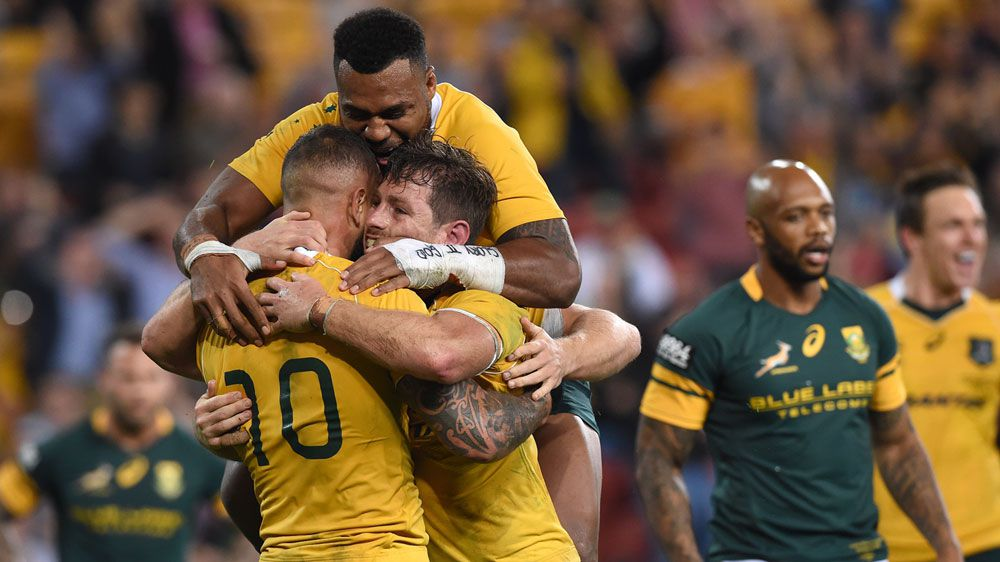 Australia won 23-17 in Saturday night's Test against South Africa at Suncorp Stadium to snap a six-match winless run.