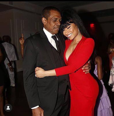 Nicki Minaj and her father Robert Maraj.