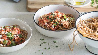 Dr. Joanna McMillan's tuna chilli spaghetti