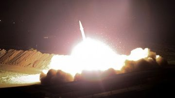 Iran has launched a missile attack on a US military base in Iraq.