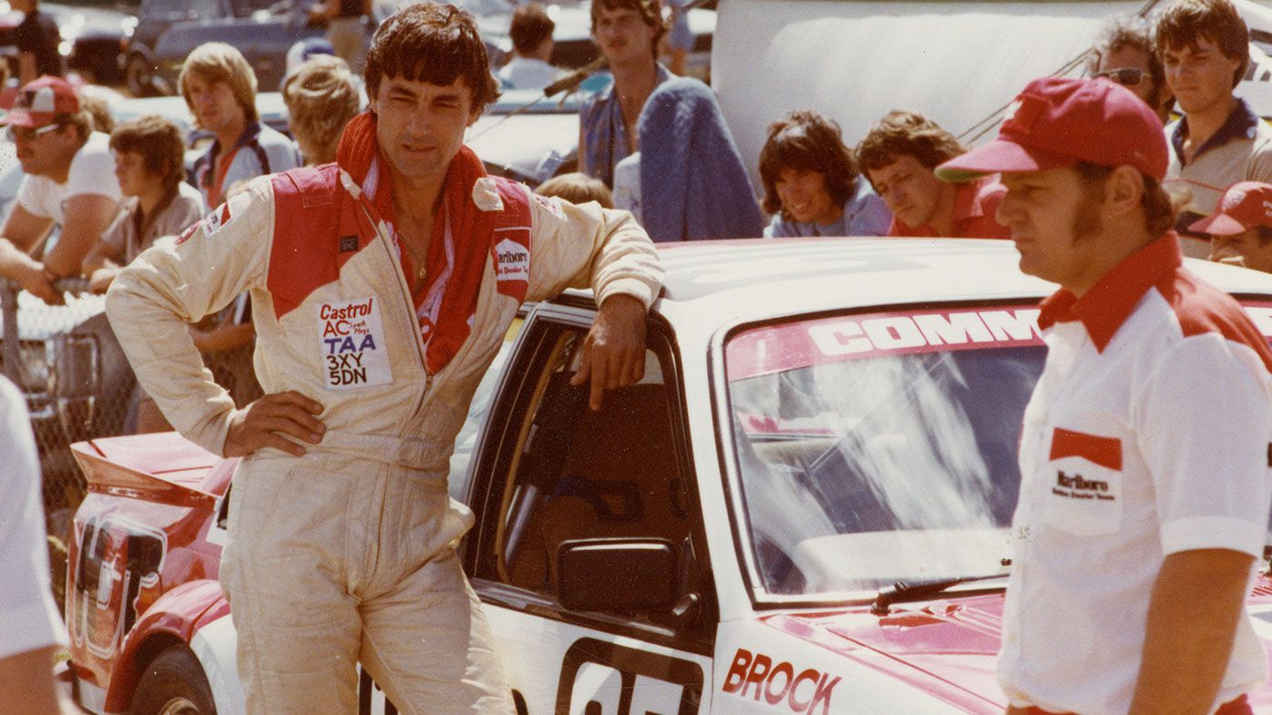 Peter Brock with the HDT Commodore in the early 1980s.