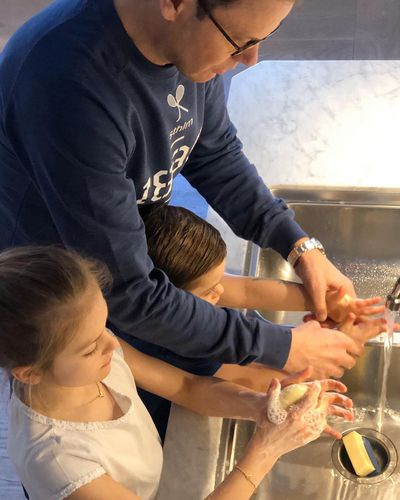 Swedish royal family promote hand washing hygiene to combat coronavirus