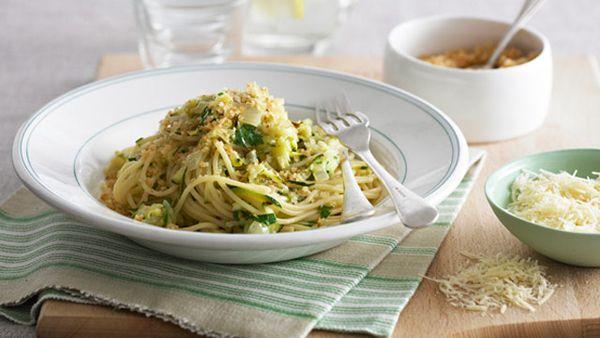 Spaghetti with zucchini and cheesefor $8.80