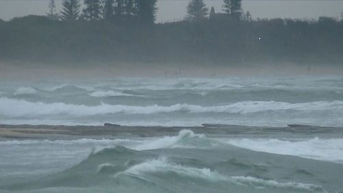 Huge swells are smashing Queensland's coastline. (9NEWS)