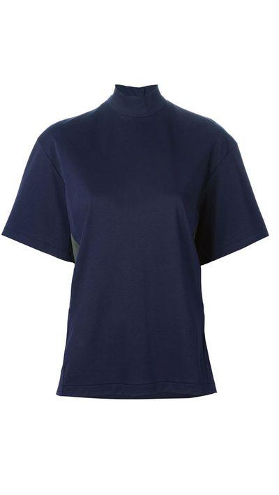 "<a href=""http://www.farfetch.com/au/shopping/women/kolor-panelled-turtleneck-t-shirt-item-10997881.aspx?storeid=9650&ffref=lp_11_2_ "">Panelled Turtleneck T-Shirt, $382.41, Kolour</a>"