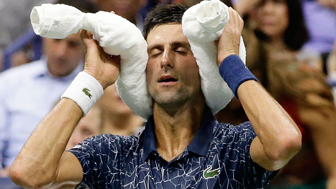 Novak Djokovic feels the heat