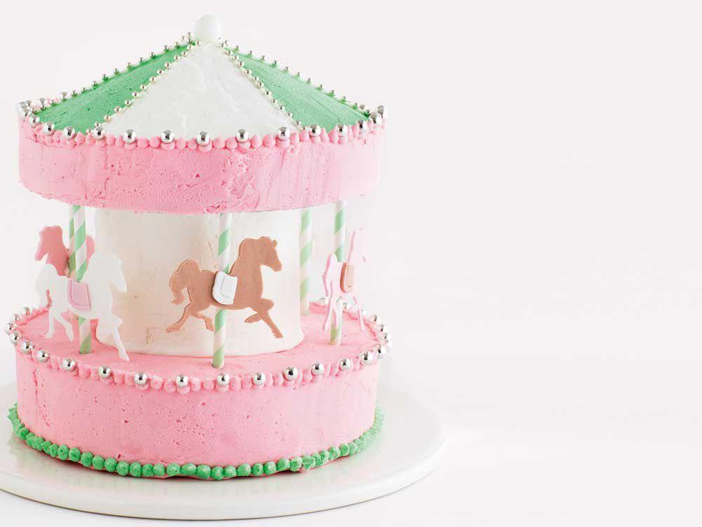 The Galloping Carousel Birthday Cake 9kitchen