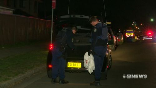 His car was abandoned on Marlborough Street last night after the alleged road rage attack. Picture: 9NEWS