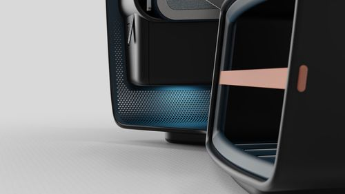 Perforations in the seat structure help with airflow fluid dynamics within the cabin.