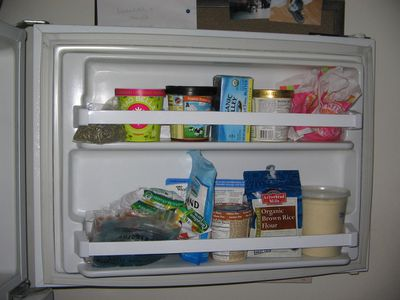 You're putting ice cream in the freezer door