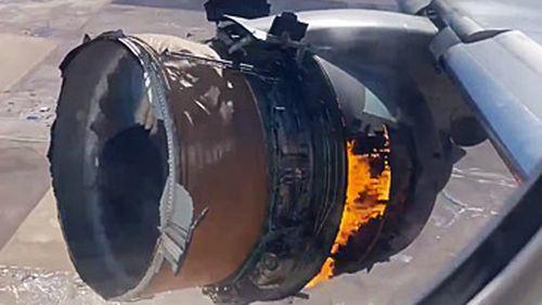 The engine caught fire mid-flight.