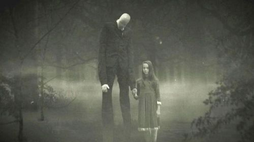 The fictional Slenderman character.