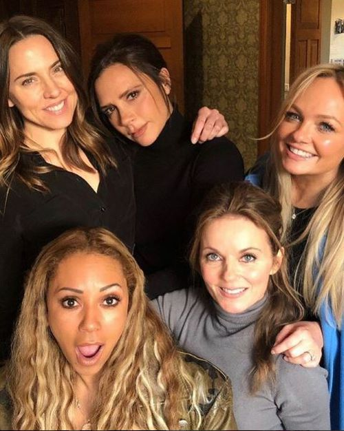 Mel B and the gang gathered for a snap recently. (Instagram)
