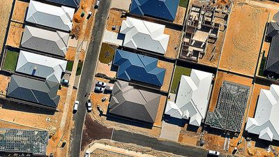 Suburban homes in Perth. (Nearmap)