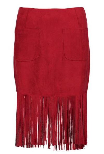 "<a href=""http://au.boohoo.com/liberty-pocket-front-suedette-tassle-skirt/DZZ50398.html"" target=""_blank"">Boohoo Liberty Pocket Front Suedette Tassle Skirt, $24.</a>"
