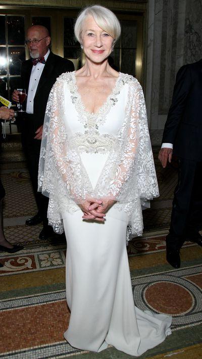 <p>Helen Mirren in Badgley Mischka&nbsp;at the Tony Awards.</p>