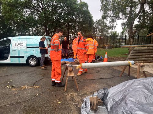 SES volunteers on standby in the Hunter as the region braces for torrential rain. (9NEWS)