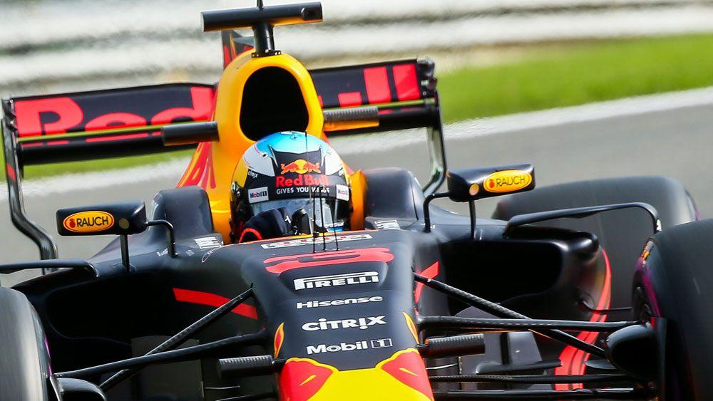 Daniel Ricciardo's maximum-speed experiment fails in practice for Belgian Grand Prix
