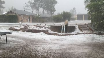 Queensland is blanketed in a covering of hail.