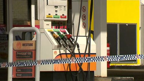 The robbery is the third at the business in recent months. (9NEWS)