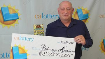 Californian man wins $10m from ticket bought with lottery winnings