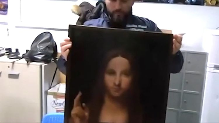 Italian police find stolen copy of Leonardo 'Salvator Mundi'