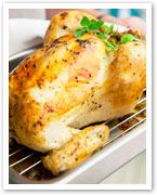 Lemon, garlic and oregano roast chicken