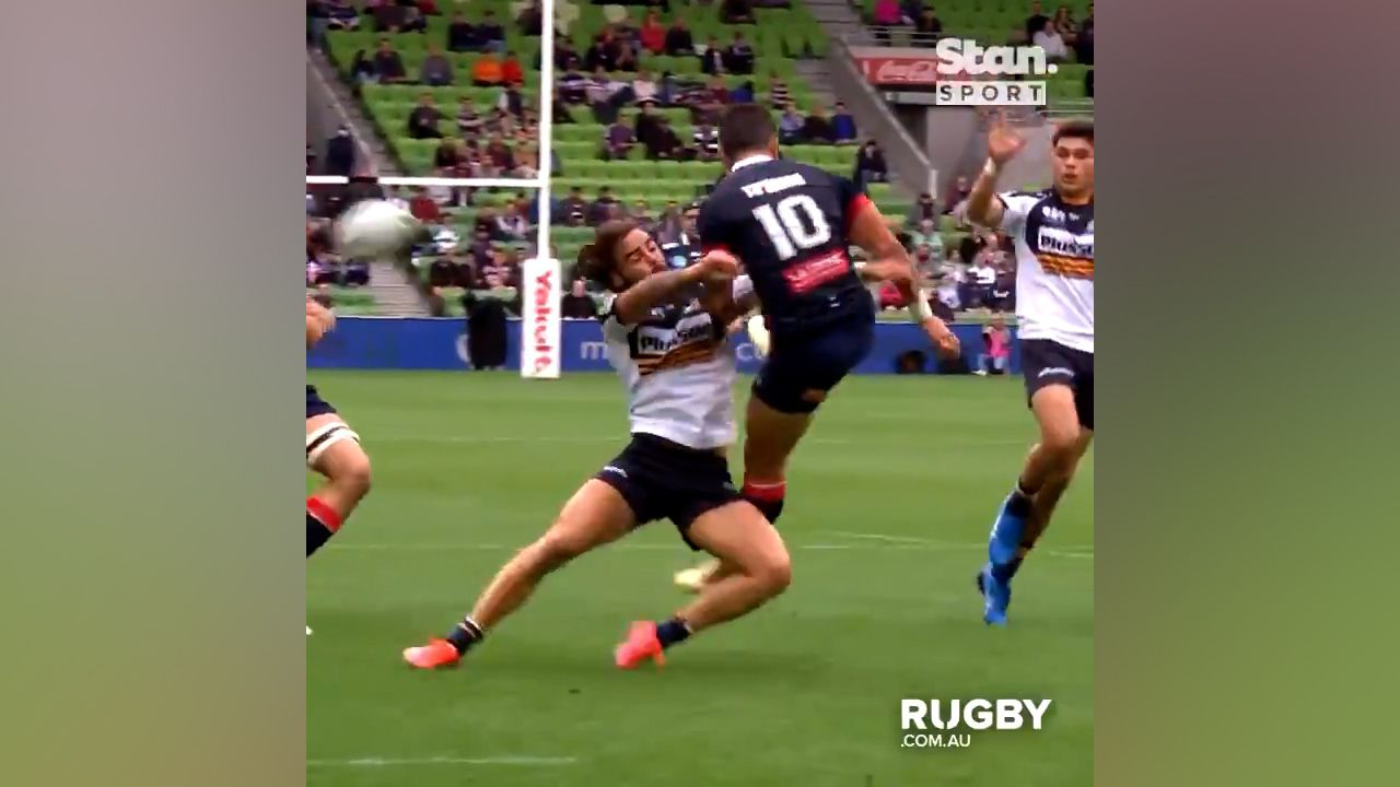 Super Rugby AU: Brumbies down Rebels 26-20 after all-time falcon blunder