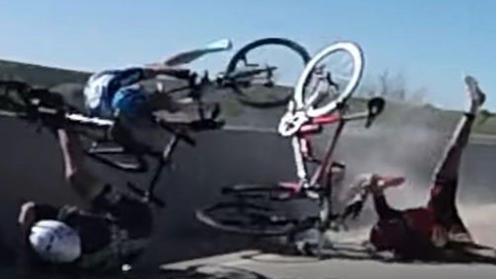 Bridge saves cyclist from terrifying fate