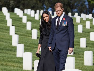Harry and Meghan mark Remembrance Day in LA, November