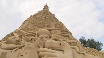 The record-breaking sandcastle stands at 16.68 metres. (Reuters)