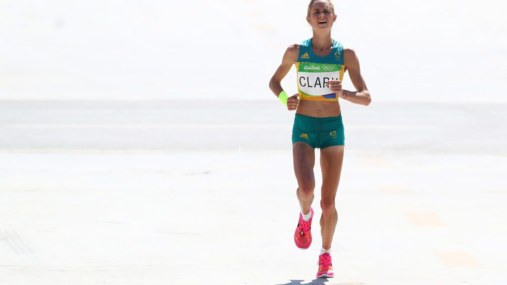 Milly Clark comes 18th in women's race in Rio. (Getty)