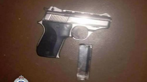 A pistol and ammunition was also found and seized during the raid.