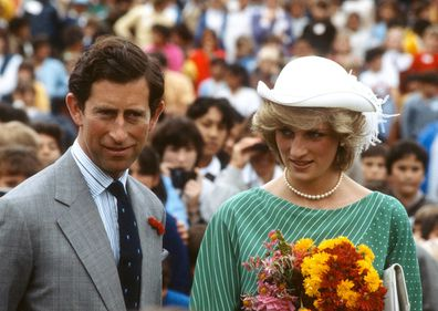 Charles and Diana in Auckland, New Zealand in 1983.