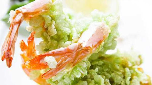 Geoff Lindsay's green rice fried prawns
