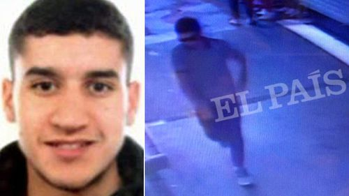 Police say Younes Abouyaaqoub was seen on CCTV following the attack. (Reuters/El Pais)
