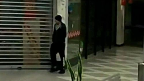 CCTV captured the suspect walking casually away from the crime scene shortly after the attack. Picture: 9NEWS