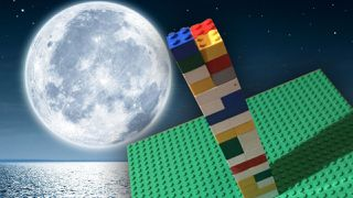 LEGO pieces stacked inspired by LEGO Masters 2020.