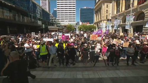 Thousands hit the streets in Perth in support of March4Justice.