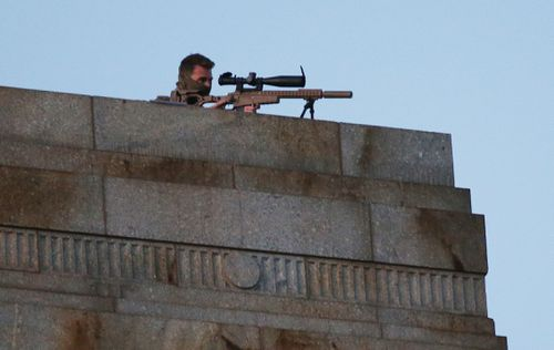 Sniper new part of Melbourne's Anzac dawn service security