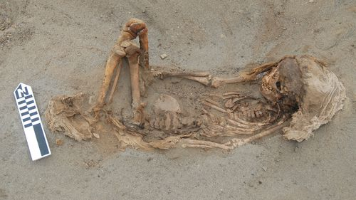 The mass grave dates back to around 1450.