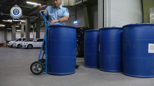 Four tonnes of GBL were confiscated on the Australia border in a record seizure.