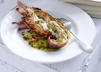 """<a href=""""http://kitchen.nine.com.au/2016/05/17/13/29/grilled-lobster-with-mustard-and-burnt-butter"""" target=""""_top"""">Grilled lobster with mustard and burnt butter<br /> </a>"""