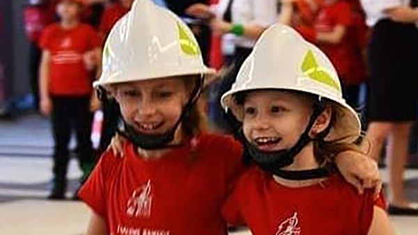 The volunteer firefighting centre has become a hub for young girls in the Polish town of of Miejsce Odrzanskie, where no boys have been born in nearly a decade