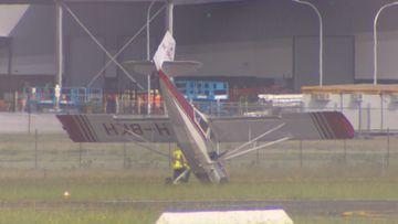 Plane makes emergency landing at Bankstown Airport.